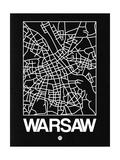 Black Map of Warsaw