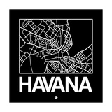 Black Map of Havana