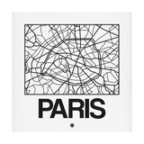 White Map of Paris
