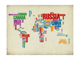 Typography World Map 3