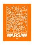 Orange Map of Warsaw