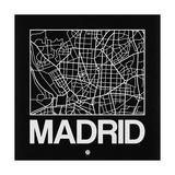 Black Map of Madrid