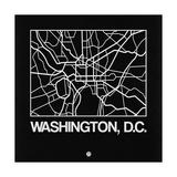 Black Map of Washington  DC