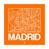 Orange Map of Madrid