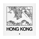 White Map of Hong Kong