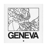 White Map of Geneva