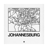 White Map of Johannesburg