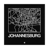 Black Map of Johannesburg