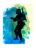 Star Warrior Boba Watercolor