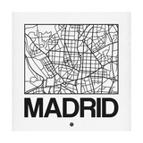 White Map of Madrid