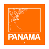 Orange Map of Panama