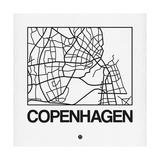White Map of Copenhagen