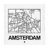 White Map of Amsterdam