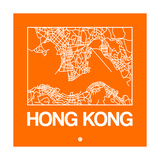 Orange Map of Hong Kong