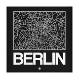 Black Map of Berlin