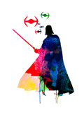 Darth Fighting Watercolor 1