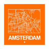 Orange Map of Amsterdam