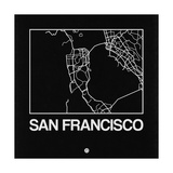 Black Map of San Francisco