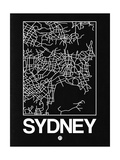 Black Map of Sydney