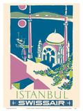 Istanbul  Turkey - Swissair - Ortakoy Mosque