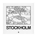 White Map of Stockholm