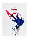 Trooper Playing Guitar Watercolor