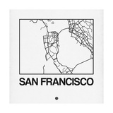 White Map of San Francisco