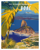 Fly to South America - British Overseas Airways Corporation - Sugarloaf Mountain  Rio De Janeiro  B