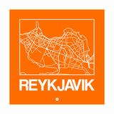 Orange Map of Reykjavik