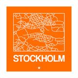 Orange Map of Stockholm