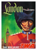 London  England - TWA (Trans World Airlines) - Royal Queen's Guard