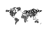 Typography World Map 5