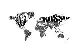 Typography World Map 5