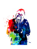 Chewbacca in a Suite Watercolor