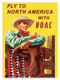 Fly to North America - with BOAC (British Overseas Airways Corporation)