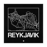 Black Map of Reykjavik