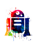 R2-D2 Cartoon Watercolor