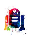 R2-D2 Cartoon Watercolor