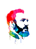 Fidel Castro Watercolor