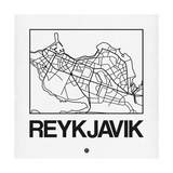 White Map of Reykjavik