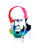 Winston Churchill Watercolor