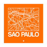 Orange Map of Sao Paulo