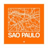 Orange Map of Sao Paulo