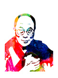 Dalai Lama Watercolor