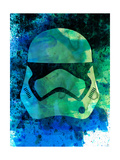 Trooper Helmet Watercolor 1