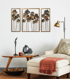 Metal Tulips Wall Art Set