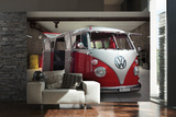 VW Red Camper Wall Mural