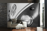 VW Black & White Camper Wall Mural Papier peint