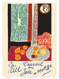 Nice, France - Travail et Joie (Work and Joy) - Still Life with Pomegranates Reproduction d'art par Henri Matisse