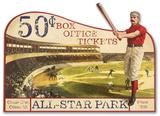 Vintage Advertising Baseball Die Cut
